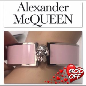 Authentic Alexander McQueen Pink Skull  Bracelet